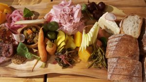 A charcuterie and fromage board at Drizzle