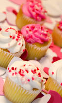 Picture of Pink and White Valentine's Day Cupcakes